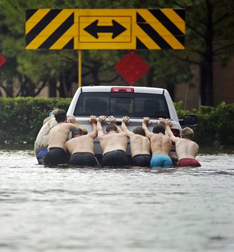 South Texas drenched by cyclone amid surge in virus cases
