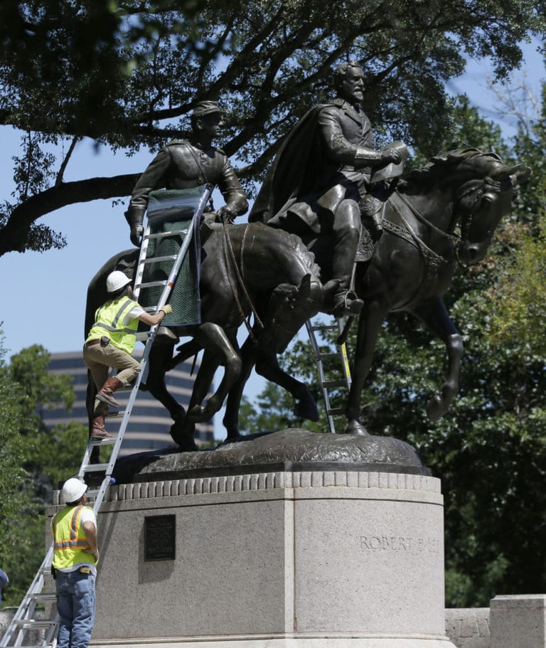 Push to remove Confederate statues stalls in rural America