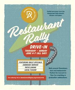 Downtown Arlington to hold restaurant drive-in rally