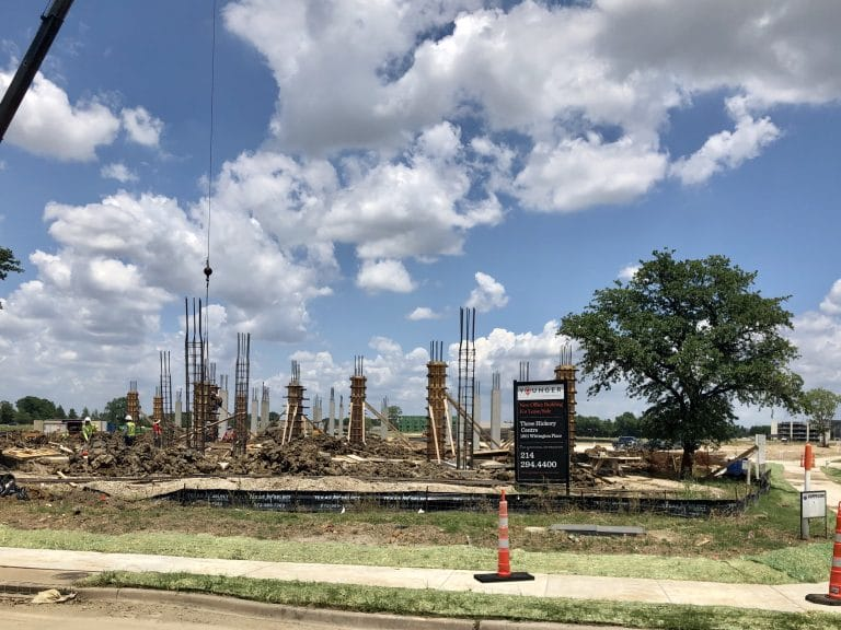 Three Hickory Centre under construction in Farmers Branch